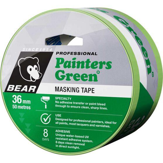 Norton Painters Masking Tape - Green, 36mm x 50m, , scanz_hi-res