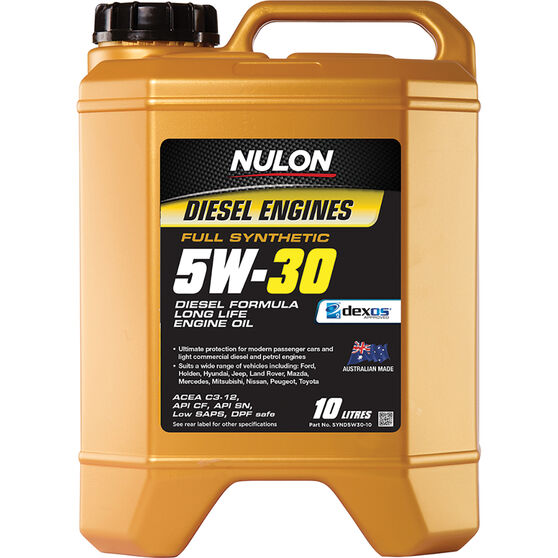 Nulon Full Synthetic Long Life Diesel Engine Oil 5W-30 10 Litre, , scanz_hi-res