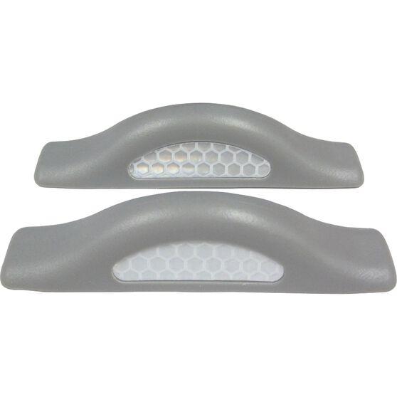 SCA Door Protectors - Grey With Silver Reflectors, 2 Pack, , scanz_hi-res