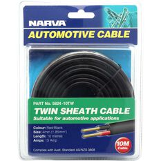 Narva Automotive Cable - Twin Sheath, 10 Metres, 15 AMP, , scanz_hi-res