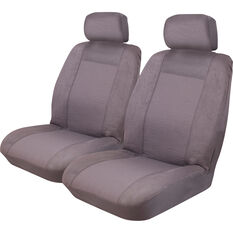 Imperial Seat Covers - Charcoal Front Pair Adjustable Headrests Size 30, , scanz_hi-res