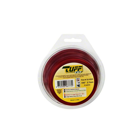Trimmer Line - Red, 2.7mm x 9m, , scanz_hi-res