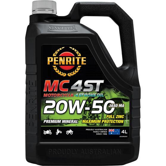 Penrite MC-4 Motorcycle Oil - 20W-50, 4 Litre, , scanz_hi-res