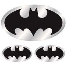 Sticker - Batman Logo, Chrome, , scanz_hi-res