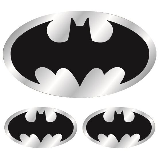 Hot Stuff Sticker - Batman Logo, Chrome, , scanz_hi-res
