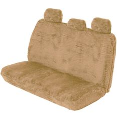 Comfort Fur Seat Cover - Bamboo, Adjustable Headrests, Size 06H, Rear Seat, , scanz_hi-res