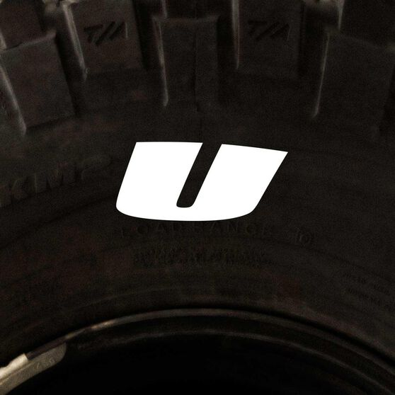 Tire Stickers - Letter U, , scanz_hi-res
