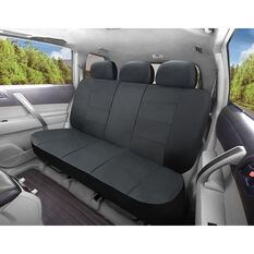 SCA Leather Look Seat Covers - Black Built-In Headrestss Size 06H Rear Seat, , scanz_hi-res