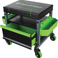 ToolPRO Roller Seat - 1 Drawer, Black and Green, , scanz_hi-res