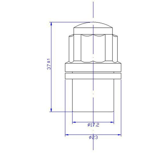 Calibre Wheel Nuts, Shank Lock - MLN12, , scanz_hi-res