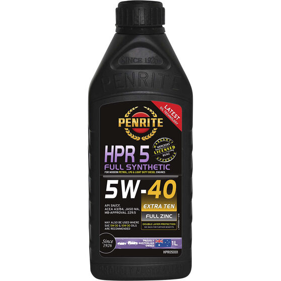 Penrite HPR 5 Engine Oil - 5W-40 1 Litre, , scanz_hi-res