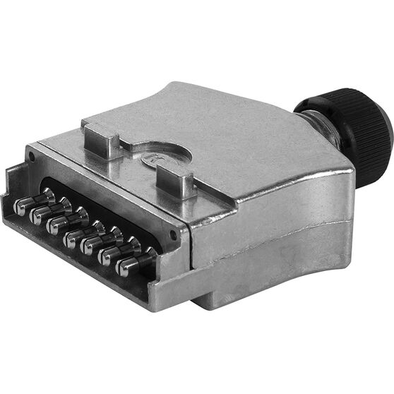 KT Cable Trailer Plug, Metal - Flat, 7 Pin, , scanz_hi-res