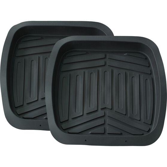 Deep Dish Car Floor Mats - Black, Set of 2 Rear, , scanz_hi-res