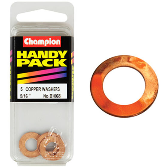 Champion Copper Washers - 5 / 16inch, BH068, Handy Pack, , scanz_hi-res