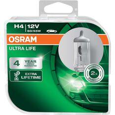 Headlight Globe - 12V, H4, 60/55W, Ultra Life, , scanz_hi-res