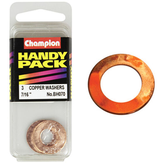 Champion Copper Washers - 7 / 16inch, BH070, Handy Pack, , scanz_hi-res