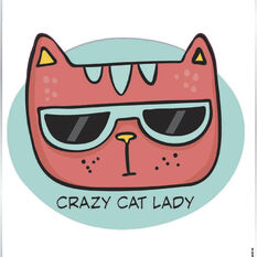 Sticker Crazy Cat Lady SH2163, , scanz_hi-res
