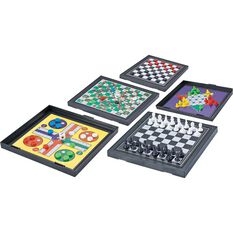 Travel Game - 5 in 1 Magnetic, Chess, Ludo, Snakes n Ladders, Checkers, , scanz_hi-res