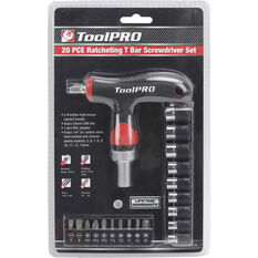 ToolPRO Screwdriver - Ratchet, T bar, 20 Piece, , scanz_hi-res