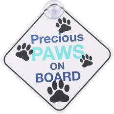Cabin Crew Pets Window Sign - Precious Paws On Board, , scanz_hi-res