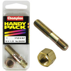Champion Manifold Stud - M10 X 41, BH293, Handy Pack, , scanz_hi-res