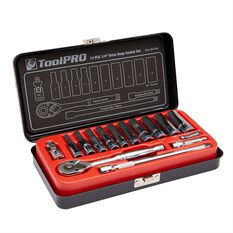 ToolPRO Socket Set - 1 / 4 inch Drive, Metric, 14 Piece, , scanz_hi-res