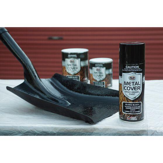 SCA Metal Cover Enamel Rust Paint - Matt Black, 300g, , scanz_hi-res