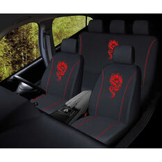 SCA Dragon Seat Cover Pack - Red, Adjustable Headrests, Size 30 and 06H, Airbag Compatible, , scanz_hi-res