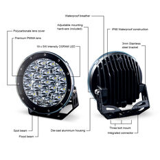 Ridge Ryder 180mm LED Driving Lights 87W with harness, , scanz_hi-res