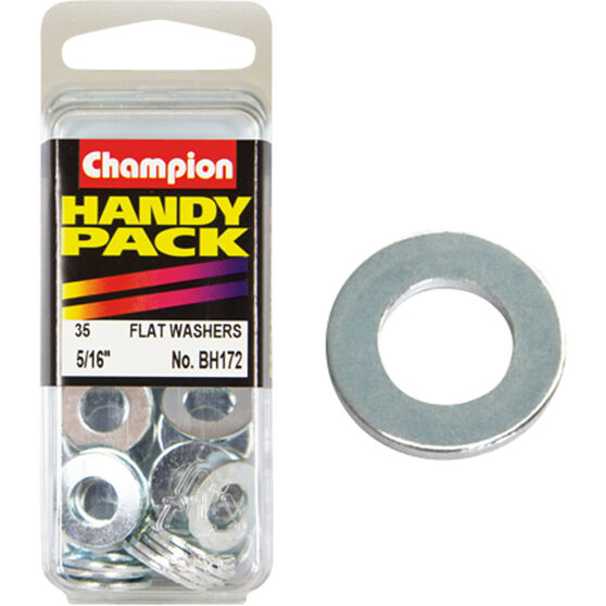 Champion Flat Steel Washers - 5 / 16inch, BH172, Handy Pack, , scanz_hi-res