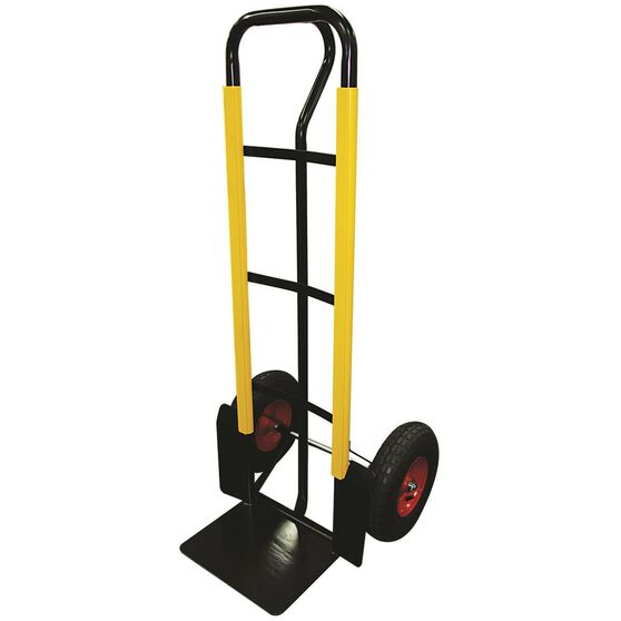 SCA Hand Trolley, Pneumatic Wheels - Black, 300kg, , scanz_hi-res
