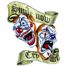 Sticker - Clows Smile/Cry, Vinyl, , scanz_hi-res