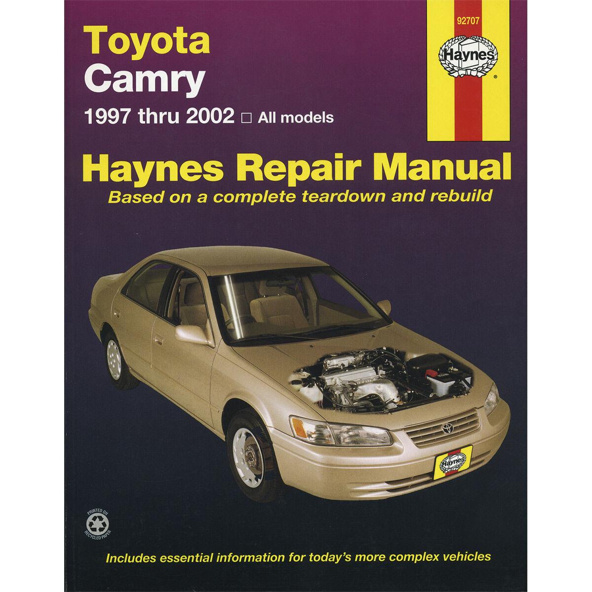 haynes car manual for toyota camry 1997 2002 92707 supercheap rh  supercheapauto co nz toyota camry 1997 service manual pdf ...