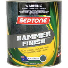 Septone Paint Hammer Finish - Charcoal, 2 Litre, , scanz_hi-res