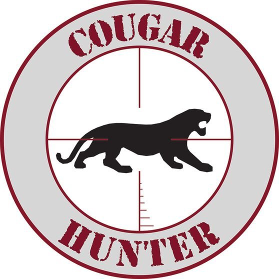 Hot Stuff Sticker - Cougar Hunter, Vinyl, , scanz_hi-res