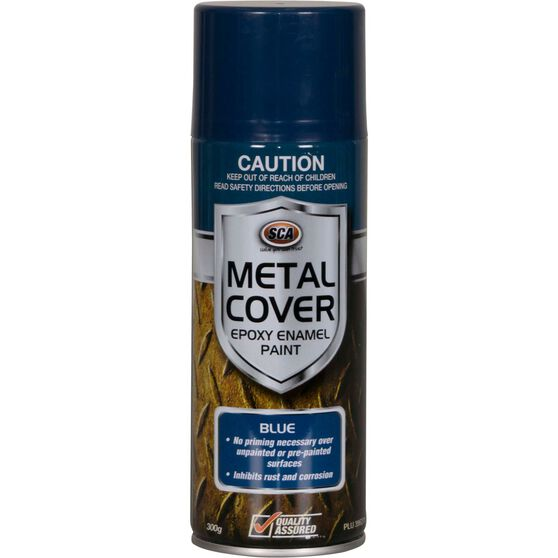 SCA Metal Cover Enamel Rust Paint - Blue, 300g, , scanz_hi-res