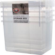 SCA Storage Box - 20 Litre, 4 Pack, , scanz_hi-res