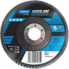 Norton Flap Disc 40 Grit 125mm, , scanz_hi-res