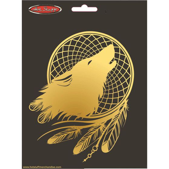 Sticker Golden Wolf Dream Catcher CH887, , scanz_hi-res