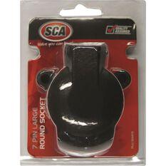 Trailer Socket - 7 Pin, Plastic, Large Round, , scanz_hi-res