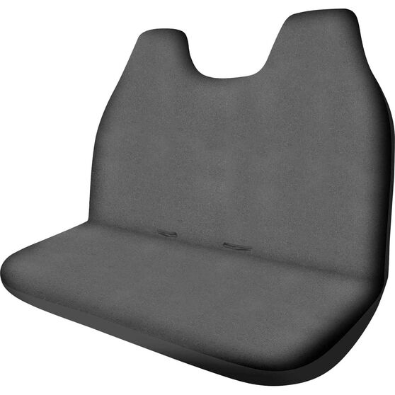 Canvas Ute Seat Cover - Charcoal, Size 90, Front Bench (with built-in headrests), , scanz_hi-res