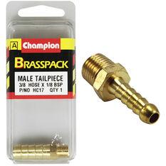 Champion Male Hose Barb - 3 / 8inch X 1 / 8inch, Brass, , scanz_hi-res