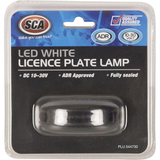 SCA Licence Plate Lamp - LED, White, 10-30V, , scanz_hi-res