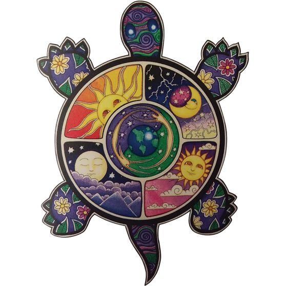 Hot Stuff Sticker - Peace Turtle, Vinyl, , scanz_hi-res