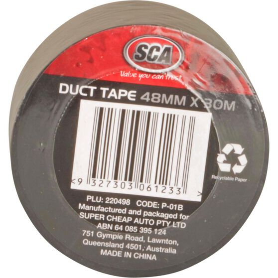 Duct Tape - Black, 48mm x 30m, , scanz_hi-res