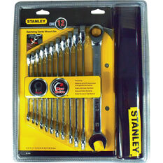 Stanley Ratchet Spanner Set Metric 12 Piece, , scanz_hi-res
