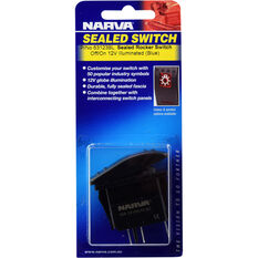 Narva Rocker Switch - Off/On, Sealed Switch, Blue LED, , scanz_hi-res