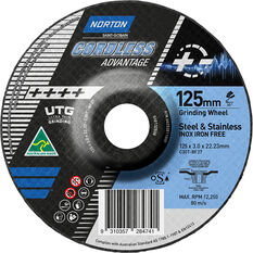 Norton Cordless UTG Wheel - 125mm, , scanz_hi-res