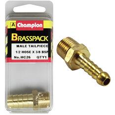 Champion Male Hose Barb - 1 / 2inch X 3 / 8inch, Brass, , scanz_hi-res