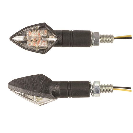 Motorcycle Indicators - LED, Carbon Effect, 2 Pack, , scanz_hi-res